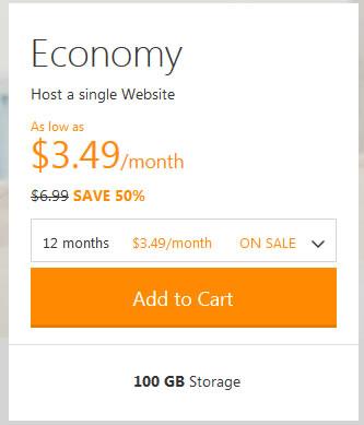 2014年5月ECONOMY虚拟主机仅需12美金一年